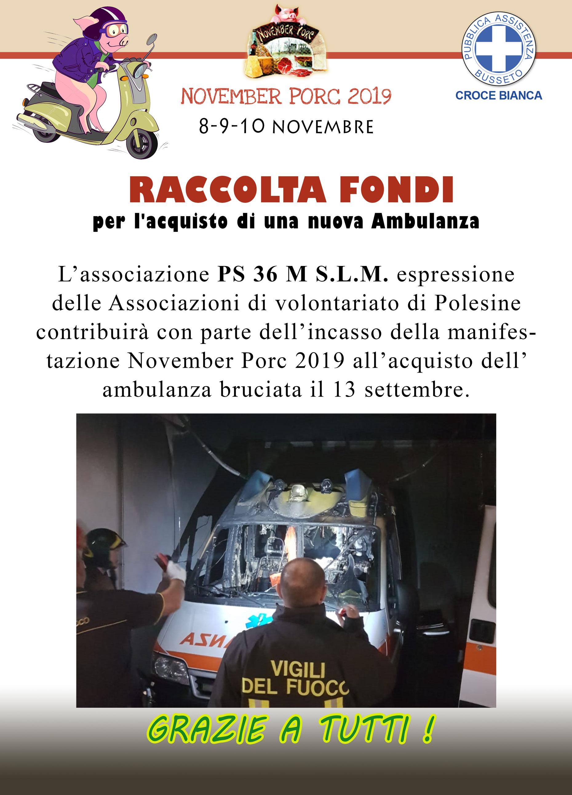 Raccolta Fondi Acquisto Nuova Ambulanza